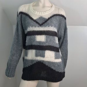 Madewell Sweater Mohair Blend Loose Knit XL